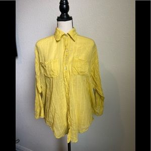 Elizabeth & James Sheer Button Down Shirt